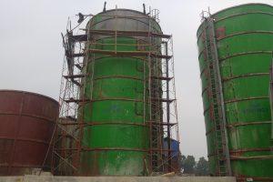 Dịch vụ gia công phun cát làm sạch silo các loại