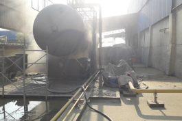 Gói thầu phun cát tẩy rỉ và sơn lại bồn LPG